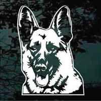 Sable German Shepherd Dog vinyl decals