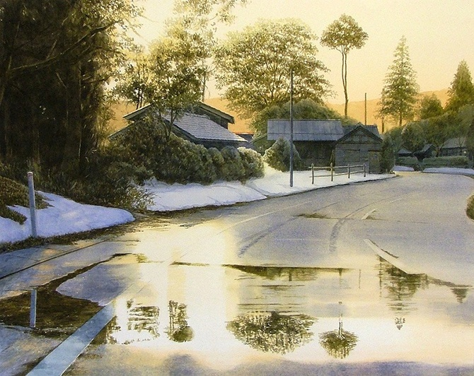 watercolor artist Abe Toshiyuki