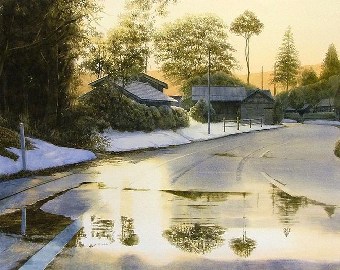 watercolor artist Abe Toshiyuki