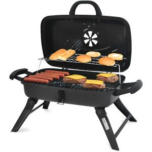 "Backyard Grill 13"" Portable Charcoal Grill, Black $19.88"