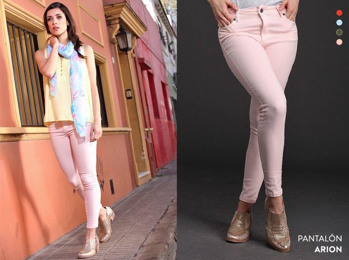 ¡Renová tu guardarropas con el Pantalón Arion! Realizado en denim de colores, tenés 4 tonos para elegir.