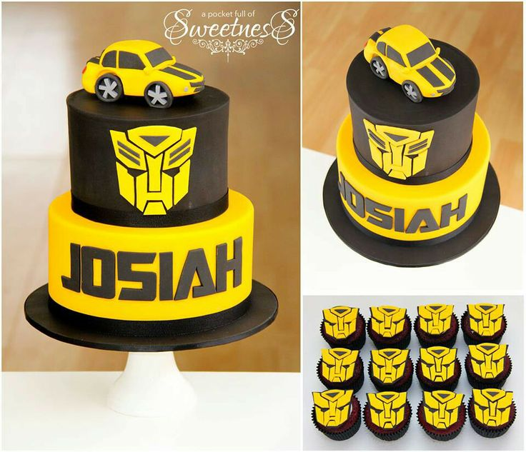 Transformer cake--car on top needs to better, but nice clean design
