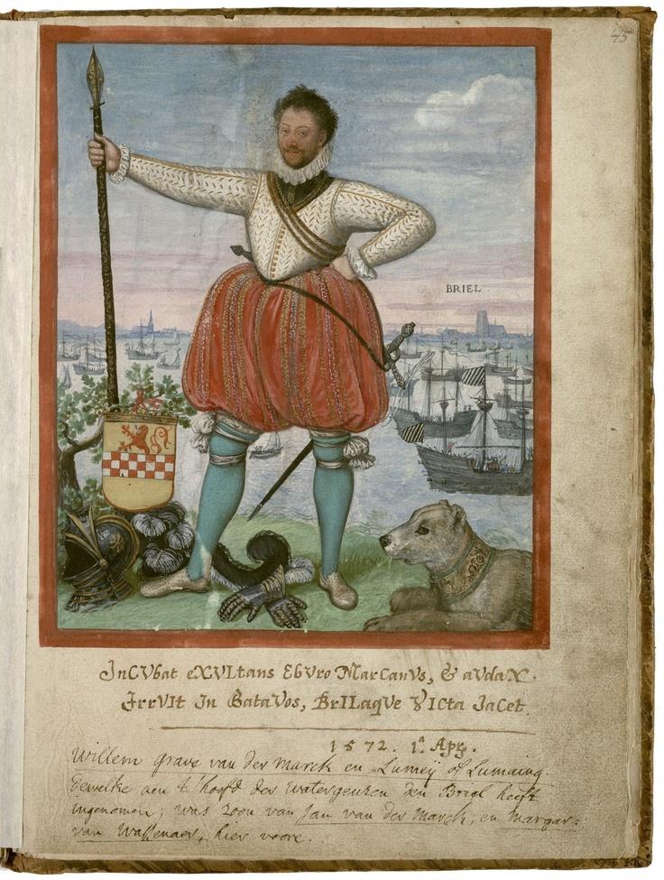 Lumey van der Marck, admiraal van de watergeuzen, 1572.