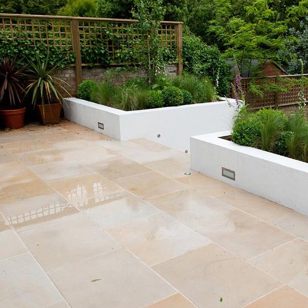 Honed Yellow Himalayan Sandstone Pavers   French Pattern