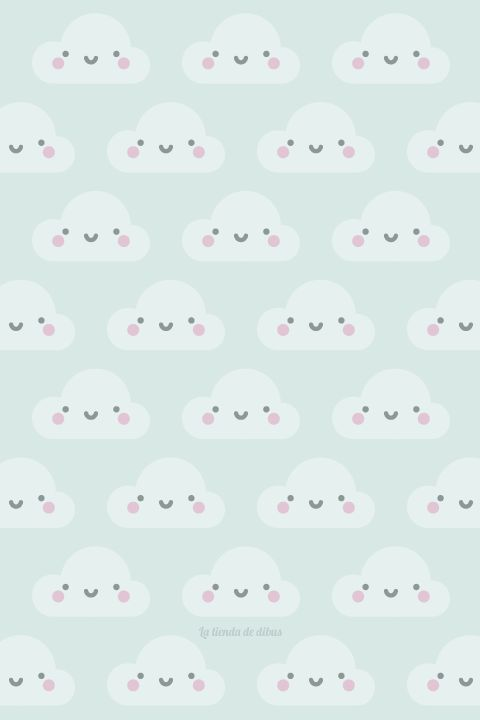 Wallpaper para smartphone nubes / happy clouds :)