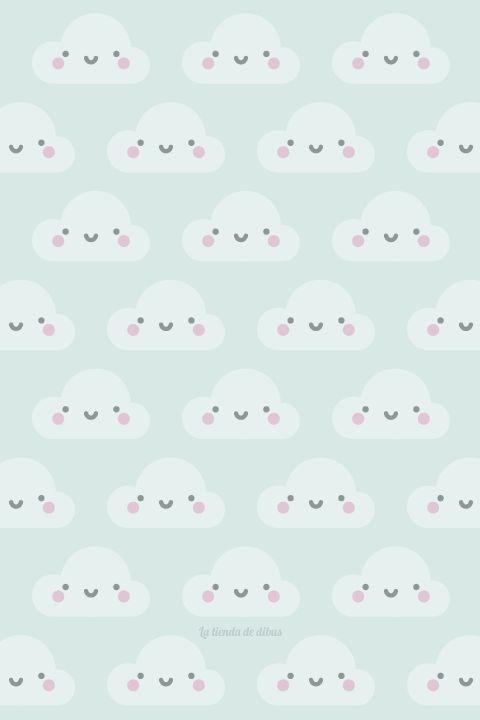 Wallpaper para smartphone nubes / happy clouds :)