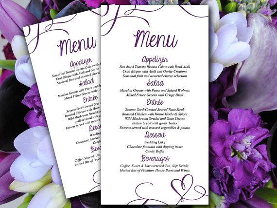 25+ parasta ideaa Pinterestissä Diy wedding menu cards - Menu Word Template
