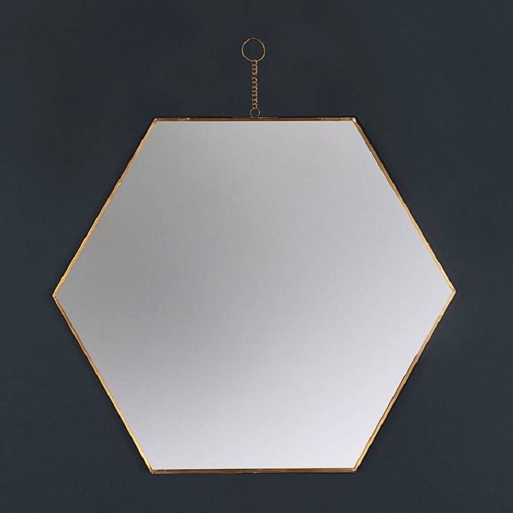 I've just found Hexagon Brass Wall Hanging Mirror. Hexagon Brass Mirror. £49.00