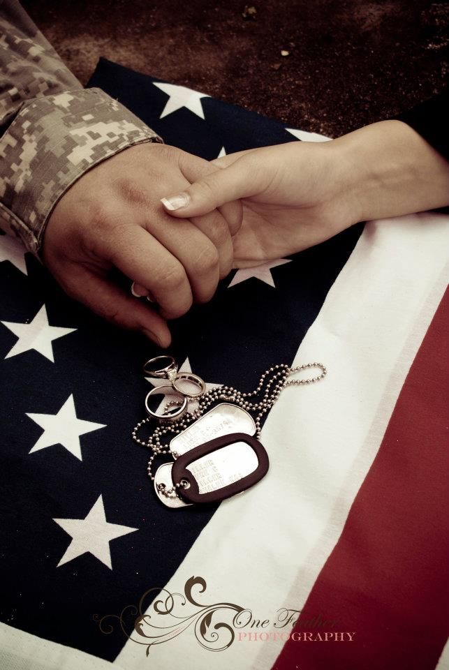 #army army couple with dogtags
