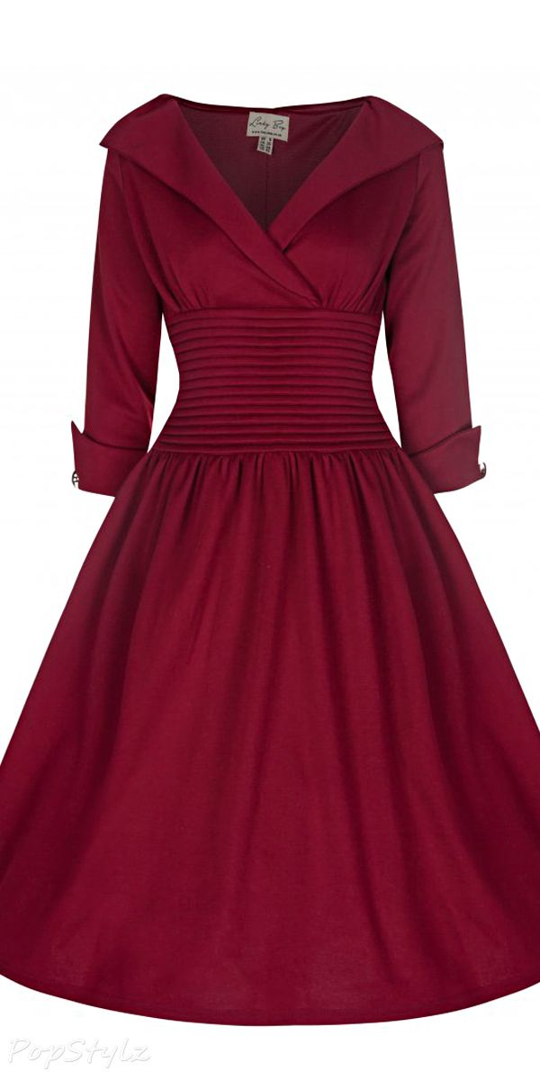Pink red dress 50s