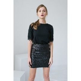 Sequin skirt #allblackeverything #minimalism