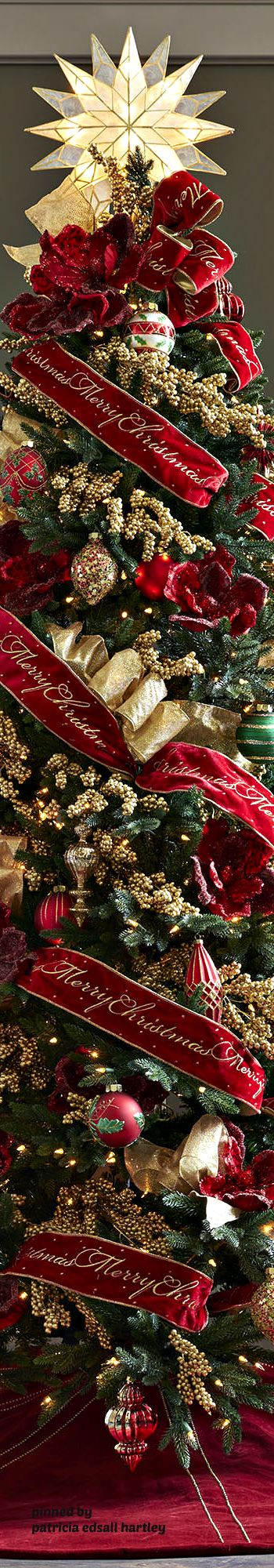 CHRISTMAS TREE~RED & GOLD TREE