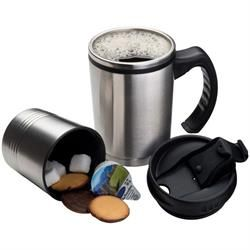 Mug with Biscuit Holder South Africa   #stainlesssteelmugs #coffeemugs #mugandbiscuitholder  #engravedmugs #corporategifts #thermalmug #biscuitholder #2-in-1thermalcoffeemugs #2-in-1coffeemugholder