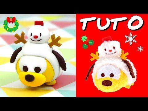 Christmas Pluto Tsum Tsum polymer clay tutorial