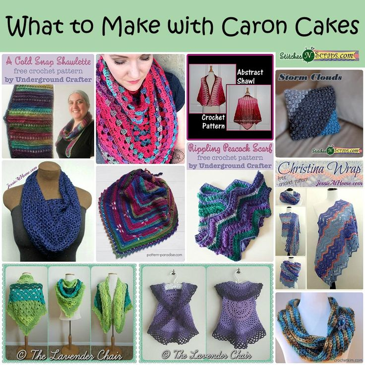 21 best caron for crochet and knit images on pinterest caron roundup what to make with caron cakes yarn 11 free crochet patterns curated fandeluxe Gallery