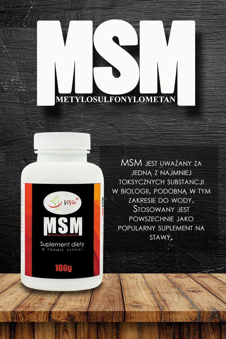 MSM Suplement diety w formie sypkiej.  Dbaj o stawy! MSM, czyli skrót od nazwy Metylosulfonylometan, to popularny suplement diety na stawy.