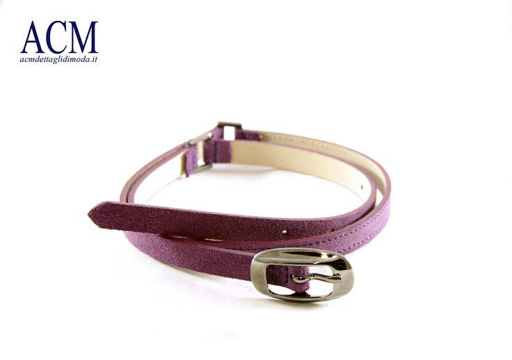 Cintura donna in pelle scamosciata con anelli e fibbia canna fucile lucido #woman #suede #leather #belt