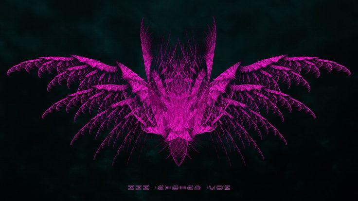 Biting Pink - Pink Flying Bat Fringe Art - Wings