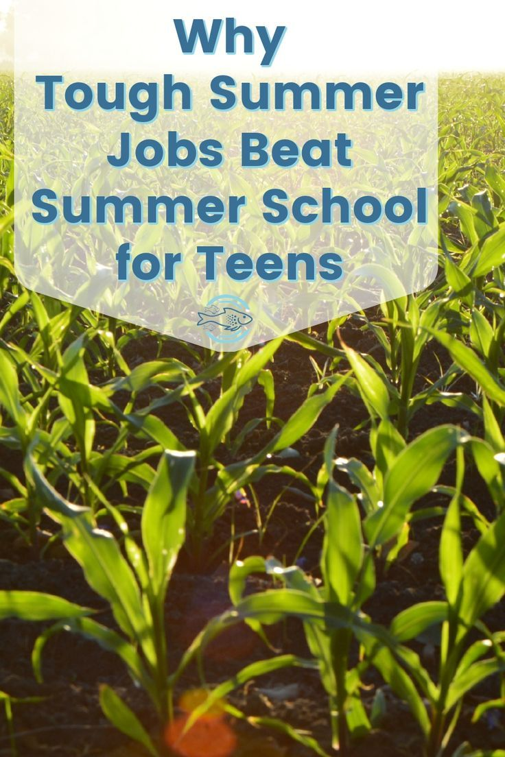 Why teenagers should work summer jobs - the tougher the better!