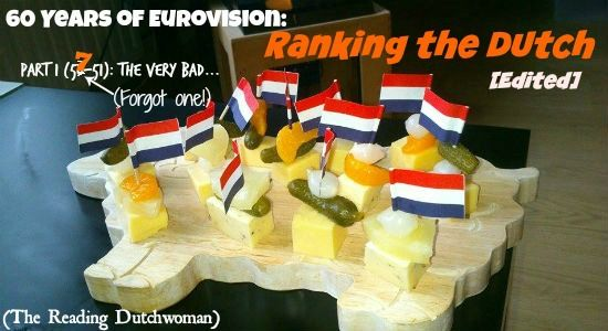 Offensive headgear, boring hippie crap, and cheerful sexist lyrics... The Reading Dutchwoman decided to rank 60 years of Dutch Eurovision entries. Starting with the worst. Read more at http://overthehorse.com/60-years-of-eurovision-ranking-the-dutch-part-1-56-51-the-very-bad