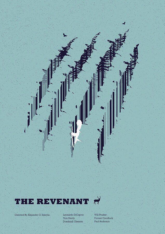 The Revenant (2015) ~ Minimal Movie Poster by Matt Needle ~ Oscar 2016 Nominess #amusementphile