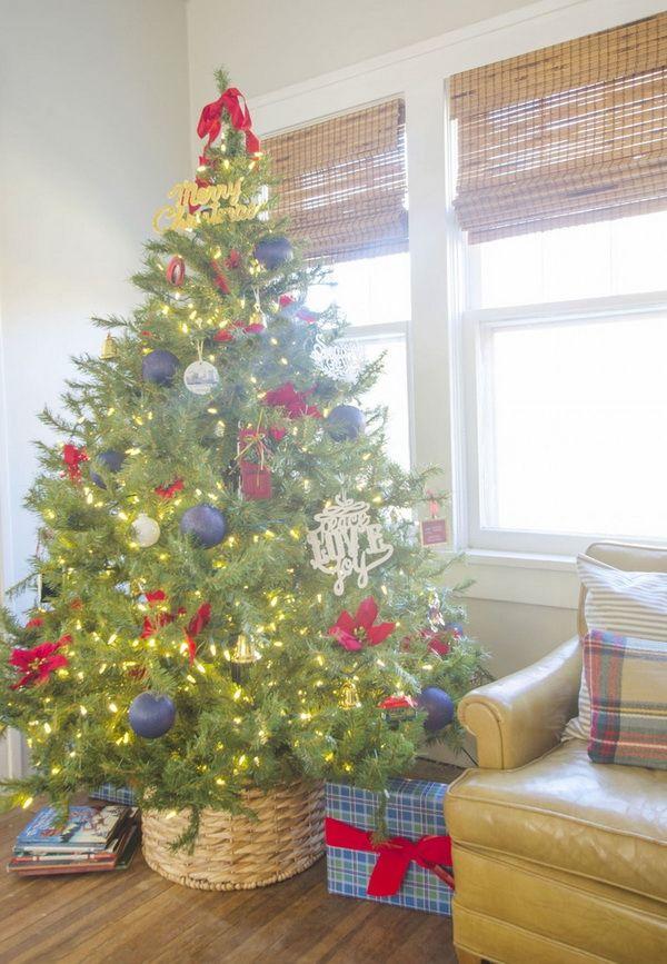 21 Arboles De Navidad En Cestas Decoracion Navidena Arbol De Navidad Colorido Ideas Para Arboles De Navidad Decoracion Navidena