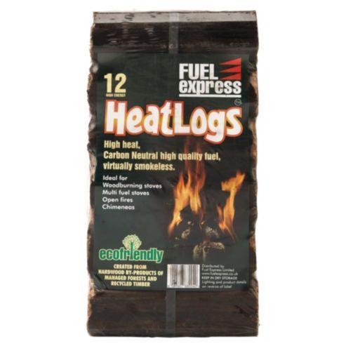 Fuel Express Long Burning Heat Logs, 12 pack