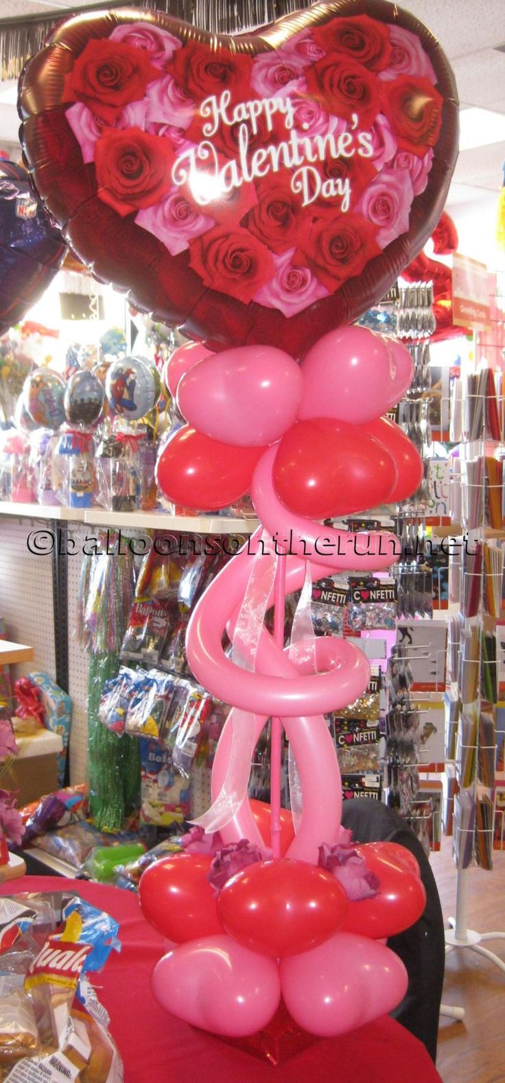 7 best valentines day balloons images on pinterest for Balloon decoration for valentines day