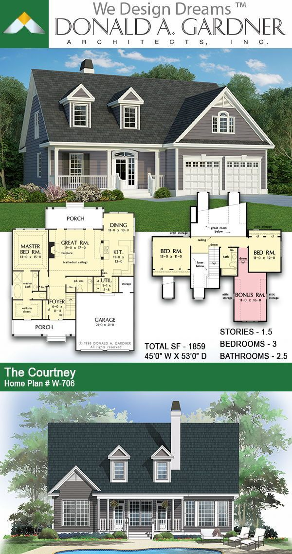 The Courtney House Plan 706 Wedesigndreams Dongardnerarchitects Architecture Architect Houseplan Unique Small House Plans House Plans Narrow House Plans