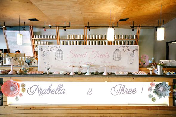 Event Venue: Tranquil Tea Lounge | Little Bird Themed Party Ideas | Pretty My Party