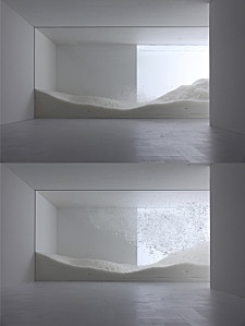 Sensing Nature: The Snow, installation by Tokujin Yoshioka at the Mori Art Museum of Tokyo _