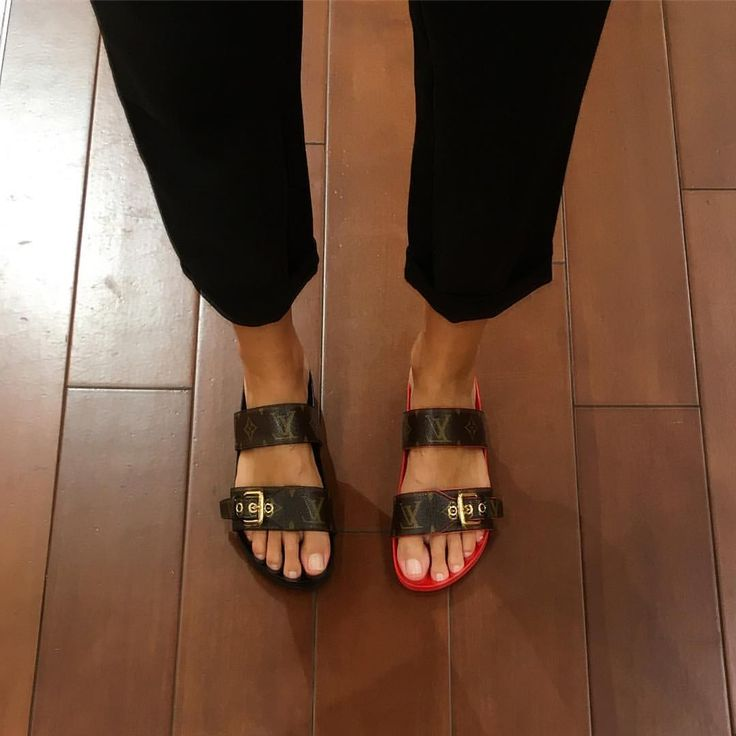 Louis Vuitton Sandals  See this Instagram photo by @katialola • 1,784 likes