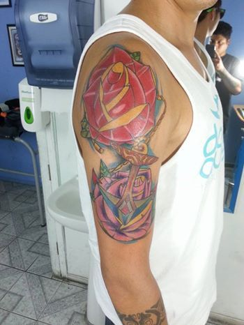 flores tattoo  by castro stevens