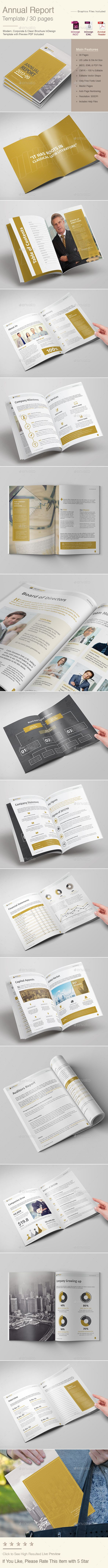 Annual Report — InDesign INDD #business #report • Download ➝ https://graphicriver.net/item/annual-report/19851805?ref=pxcr