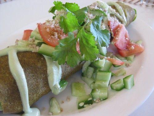 #raw Falafel Wrap from It's Rawsome Cafe