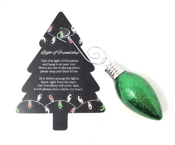 Light Of Friendship Light Bulb Christmas Ornament Gift Real