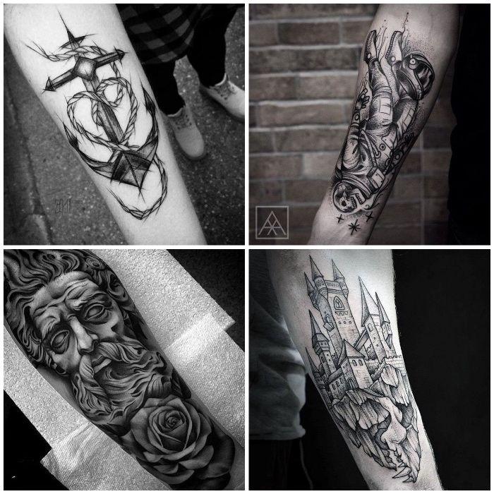 die besten 25 graues tattoo ideen auf pinterest blumen arm tattoo geometrisches rosen tattoo. Black Bedroom Furniture Sets. Home Design Ideas