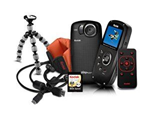 Kodak PlaySport (ZX5) Waterproof Pocket Video Camera Bundle (Includes Remote Control, Tripod, Memory Card, HDMI Cable, and Floating Wrist Strap) - Black Bundle (2nd Generation) - http://electmecameras.com/camera-photo-video/camcorders/kodak-playsport-zx5-waterproof-pocket-video-camera-bundle-includes-remote-control-tripod-memory-card-hdmi-cable-and-floating-wrist-strap-black-bundle-2nd-generation-com/