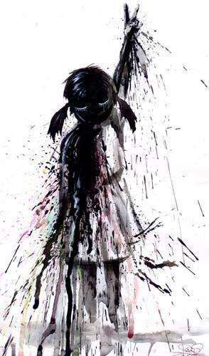 25 Beautiful Grunge Art works by Lora Zombie - Psychedelic Paintings. Follow us www.pinterest.com/webneel