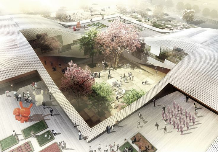 Architects: Holm Architecture Office (HAO)  Location: Daqiuzhuang, China  Collaborators: AI, Kragh & Berglund  Type: Invited Proposal  Program: Exhibition, Education, Community Center and Landscape  Size: 20,.000 M2 / 200,000 SF Building, 100.000 M2 Landscape  Status: Ongoing