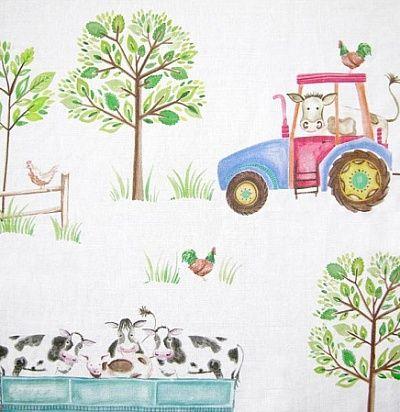 идеи для штор: детские ткани Down On The Farm White Voyage Decoration
