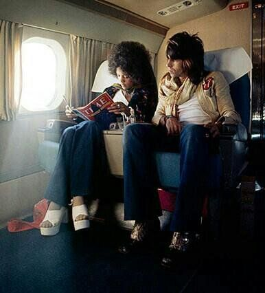 Quincy Jones' daughter Jolie Jones with Keith Richards in 1972. [ Jolie Jones is the eldest daughter of legendary producer/musician Quincy Jones. in the late 60s, she was a model -- the first african-american on the cover of mademoiselle and featured in the pages of seventeen. when she was running around with Keith Richards during the west coast stint of the rolling stones' world tour, she was only 16 years old.]