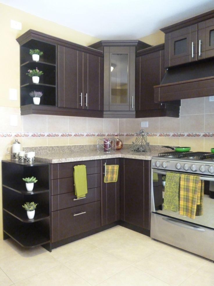 Gabinetes de cocina peque a sencillos ideas for Decoracion de gabinetes de cocina