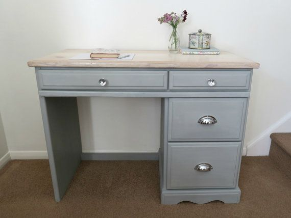Upcycled Pine Desk, Dressing Table, Painted Furniture, Shabby Chic Desk, Annie Sloan, Bedroom Furniture, Office Desk, Cottage Style