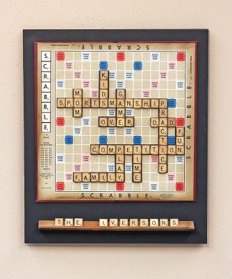 Word Play Wall Decor...  Wouldn't this be great as magnetic message board...or just a ongoing game? Challenging.