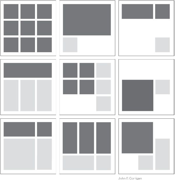 Square Layout Templates