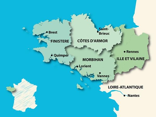 Carte de Bretagne : la région administrative. Le problème de la Loire Atlantique : soustraite sans consultation à la région de Bretagne pour être intégrée à une nouvelle région sans identité : les Pays de la Loire, par décision du gouvernement de Vichy en 1941. L'une des seules décisions à ne pas avoir été annulées après la guerre. Nombreuses manifestations pour la réunification politique de la Bretagne. N'influe en rien sur l'historique ou le culturel bien sur...