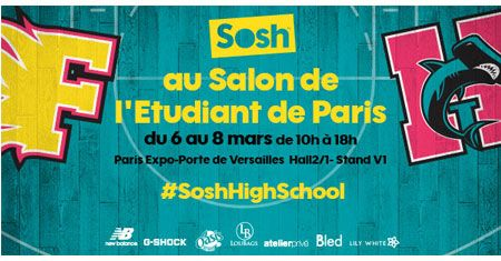 Sosh est pr sent au salon de l 39 tudiant paris porte de for Salon etudiant paris