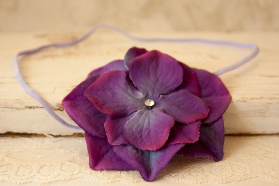 Purple Pansy Headband Artificial Baby Flower by BeautyfromashesUSA