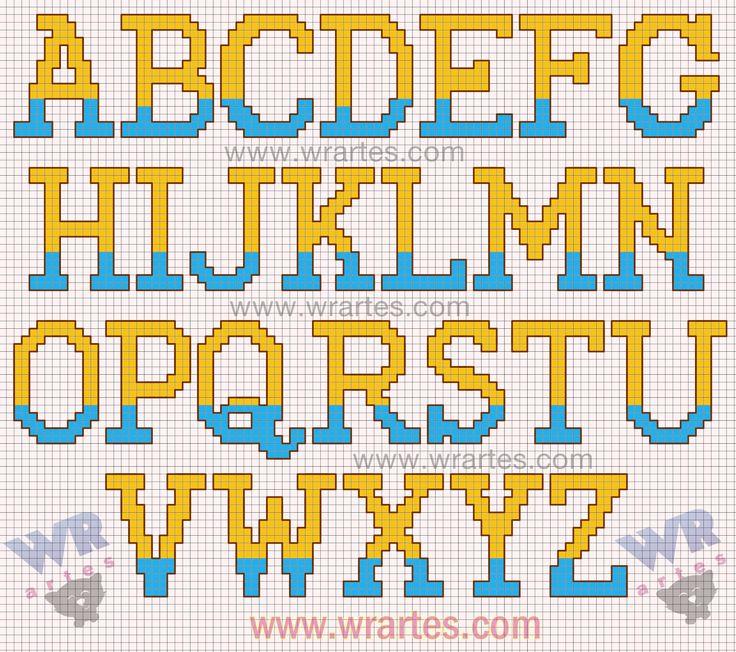 Alfabeto Amarillo y Azul.